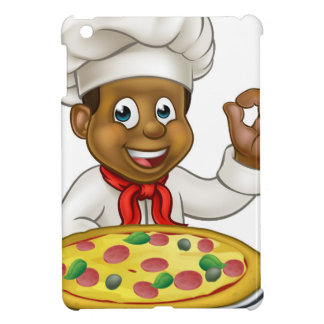 Black Chef Cartoon Character Mascot iPad Mini Case