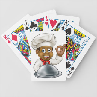 Black Chef Cartoon Character Mascot Poker Deck