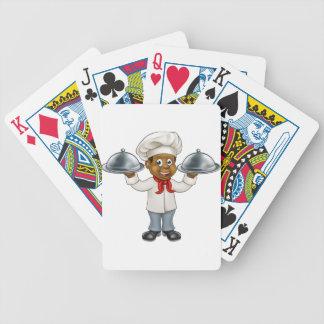 Black Chef Cartoon Character Poker Deck