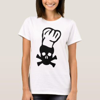 black chef skull chefs head cook T-Shirt
