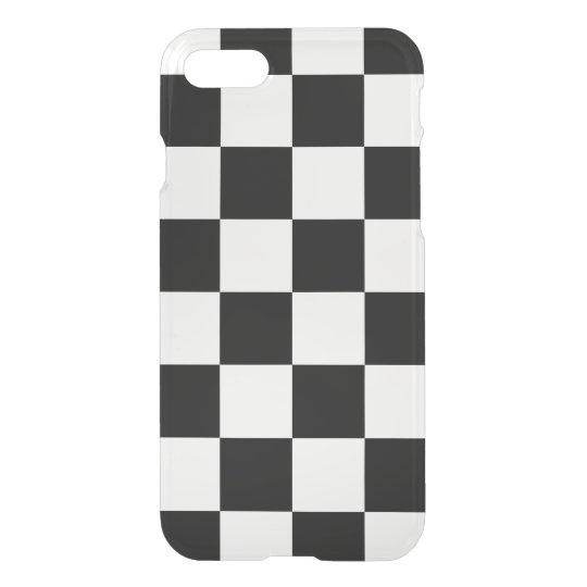 Black Chequered iPhone 7 Case