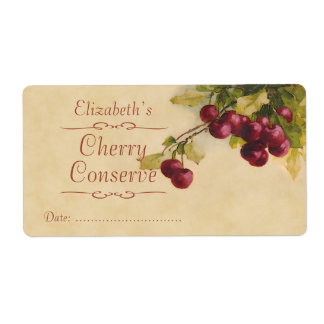 Black Cherry Canning label Shipping Label