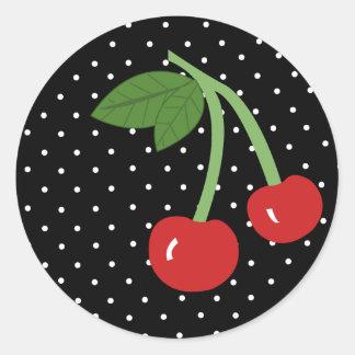 Black Cherry Classic Round Sticker
