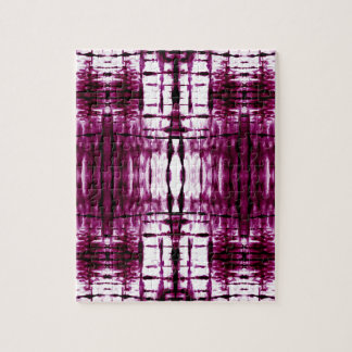 black-cherry-shibori-plaid jigsaw puzzle