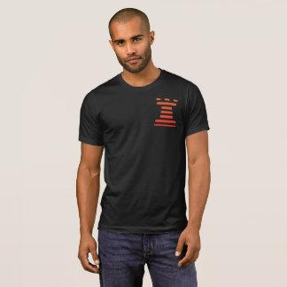 Black ChessME Crew Neck T-Shirt With Orange Rook