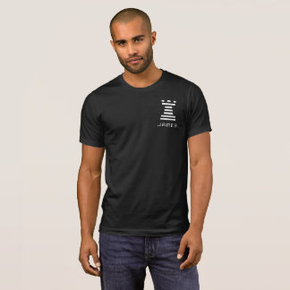 Black ChessME Crew Neck Tee Add Name White Rook