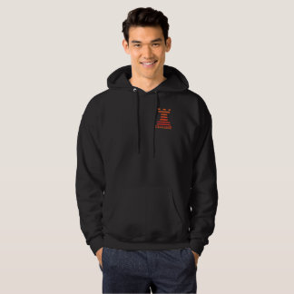 Black ChessME Mens Hooded Sweatshirt Orange Rook