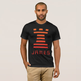 Black ChessME Tee Shirts Add Name With Orange Rook