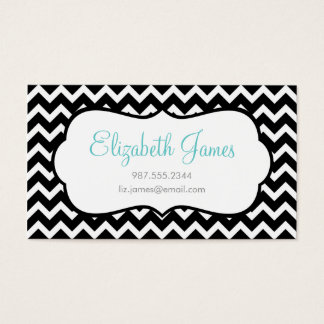 Black Chevron Business Card