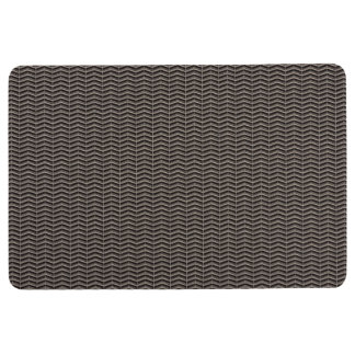 Black Chevron Floor Mat