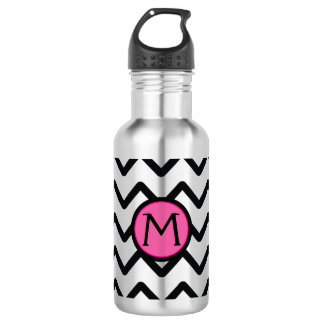 Black Chevron Monogram