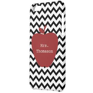 Black Chevron Red Apple Teacher iPhone 5c Case