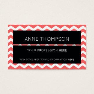 black & chevron striped stylish professional business card
