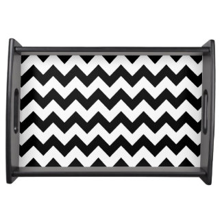 black chevron stripes serving tray