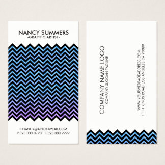 Black Chevron With Colorful Glitter Texture Business Card