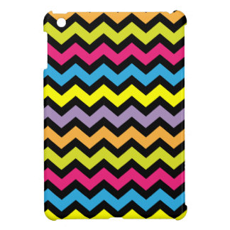 Black Chevron Zigzags with Bright Colors Cover For The iPad Mini