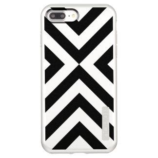Black Chevrons on Silver iPhone 8 Plus/7 Plus Case