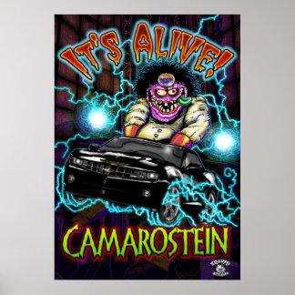 Black Chevy Camaro SS Poster
