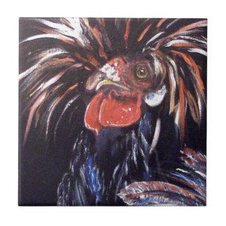 """Black Chicken"" Ceramic Tiles"