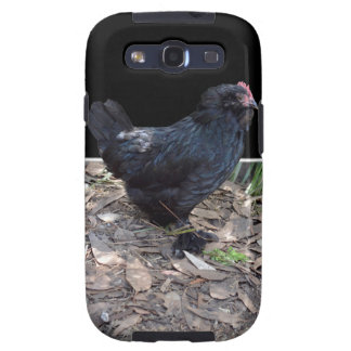 Black Chicken Pop Out,_ Galaxy SIII Cases