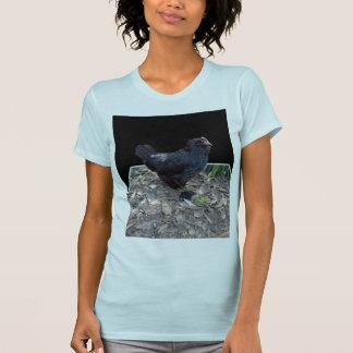 Black Chicken Pop Out,_Ladies_Blue_Tshirt T-Shirt