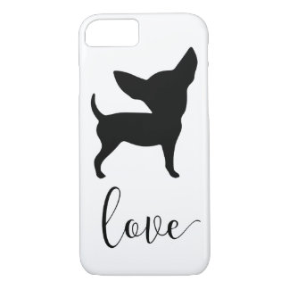 Black Chihuahua Love Iphone 8 Case