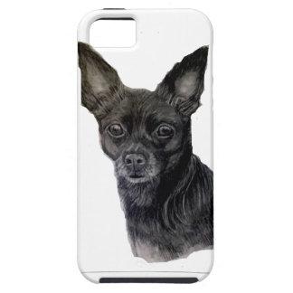 Black Chihuahua original artwork by Carol Zeock iPhone 5 Cover