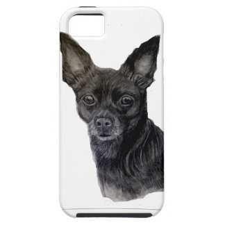 Black Chihuahua original artwork by Carol Zeock iPhone 5 Covers
