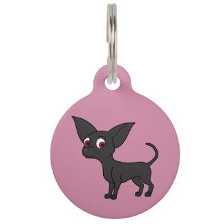 Black Chihuahua with Short Hair Pet Nametags