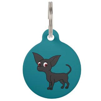 Black Chihuahua with Short Hair Pet Tag