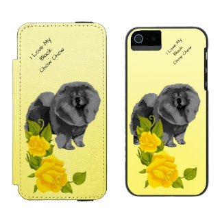 Black Chow Chow and Yellow Roses Incipio Watson™ iPhone 5 Wallet Case