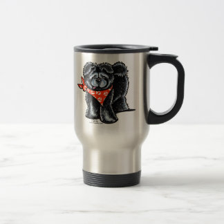 Black Chow Chow Sailor Travel Mug