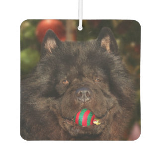 Black Chow Christmas Air Freshener