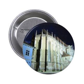 Black church in Brasov, Romania 2 Inch Round Button
