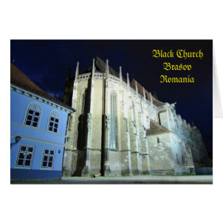 Black church in Brasov, Romania Card