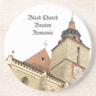 Black church in Brasov, Romania Coaster