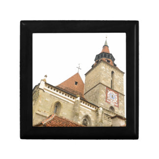 Black church in Brasov, Romania Gift Box