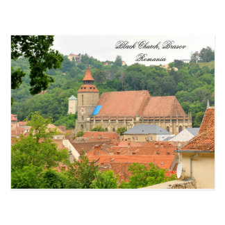 Black church in Brasov, Romania Postcard
