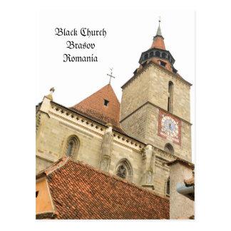 Black church in Brasov, Romania Postcard