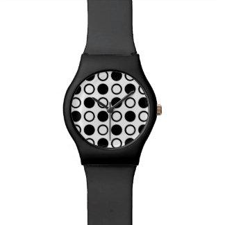 Black Circles and Polka Dots Watch