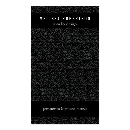Black Circles Pattern for Jewelry Design Business Cards