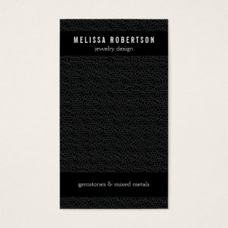 Black Circles Pattern for Jewelry Design Business Card