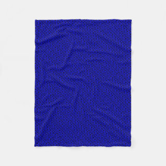 Black Circles w/Dark Blue Fleece Blanket