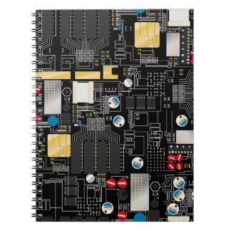 Black circuit board notebook