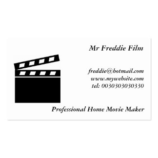 Black Clapperboard Double-Sided Standard Business Cards (Pack Of 100)
