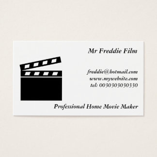 Black Clapperboard Business Card