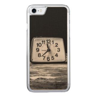 Black clock carved iPhone 8/7 case