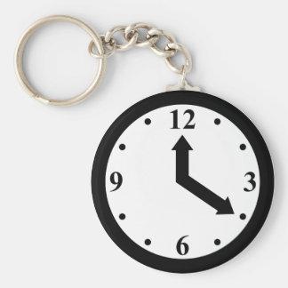 Black Clock Keychain