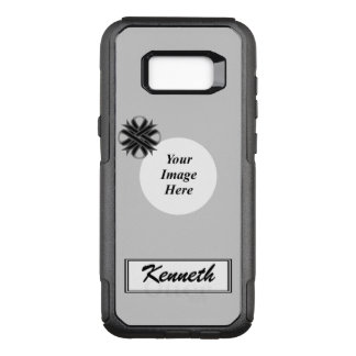 Black Clover Ribbon Template by Kenneth Yoncich OtterBox Commuter Samsung Galaxy S8+ Case