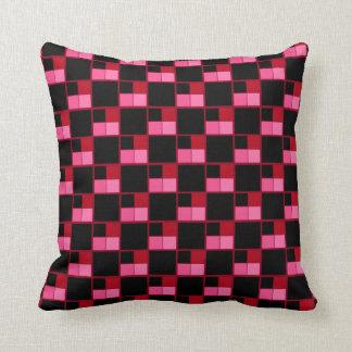 Black Coates Square Throw Pillow